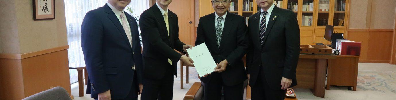 大分県知事へ要望書を提出しました。