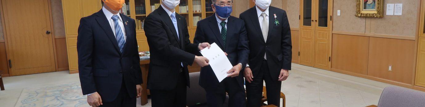 大分県知事へ要望書及び意見書を提出しました。