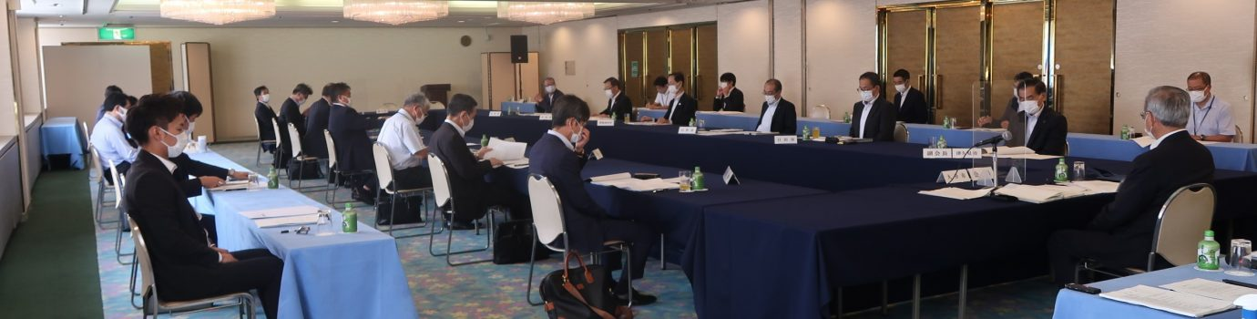 令和3年度 第1回大分県市長会政務調査会を開催しました。